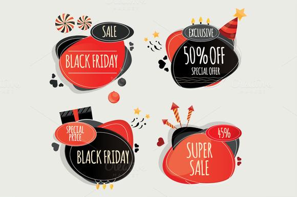 Set Of Black Friday Design Elements