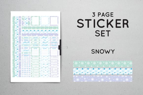 Planner Sticker Set Snowy