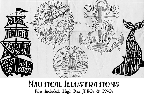 Hand-Drawn Nautical Illustrations