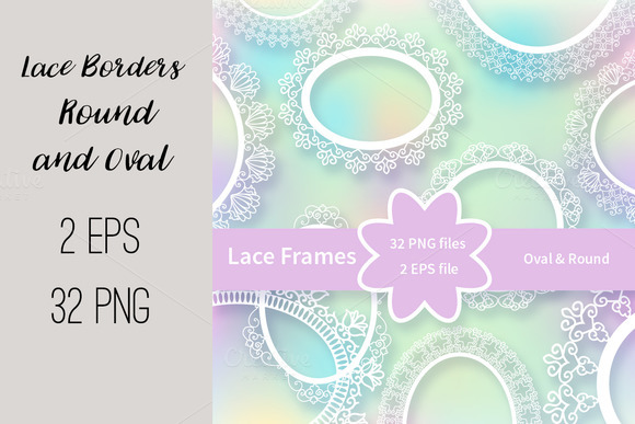 Ўн210 Lace Frames Borders-2