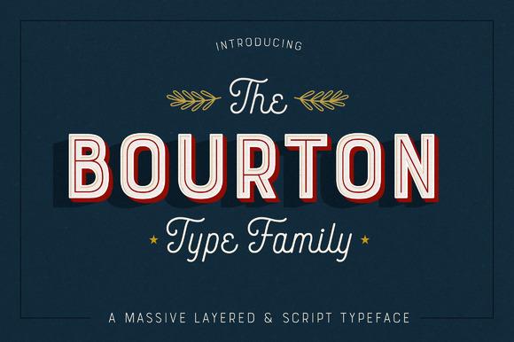 Bourton 34 Fonts 75% Off
