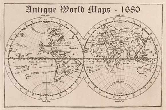 Antique World Maps 1680