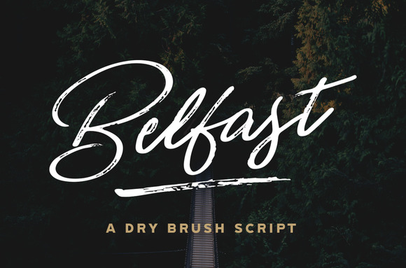 Belfast A Dry Brush Script