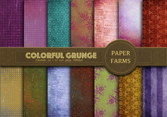 Colorful Grunge Digital Paper