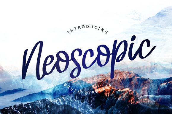 Neoscopic Brush Typeface