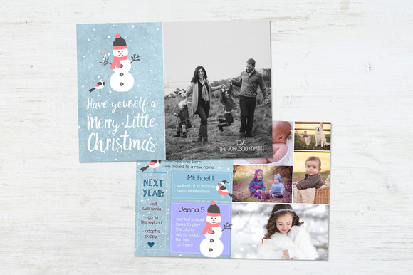 Year In Review Card Mr Snowman