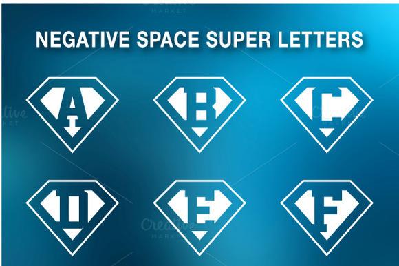 Super Letters Negative Space