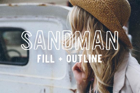 Sandman Fill And Outline