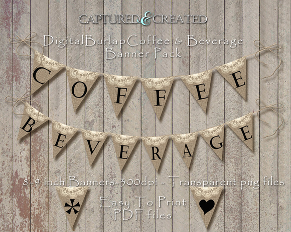 Burlap Wedding Coffee Beverage Ban
