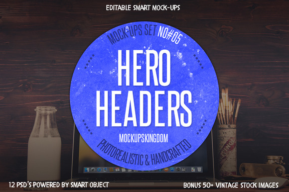 Hero Headers Macbook Mock-ups Set #5