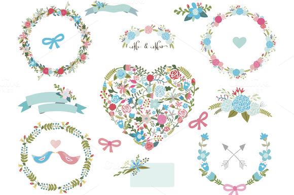 Floral Clip Art Set 4