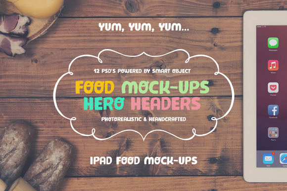 Food Hero Image Mock-up Set #3