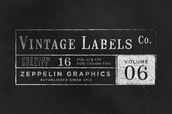 Vintage Labels Logos Vol.6