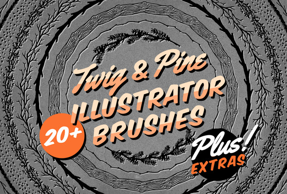 Twig Pine Illustrator Brushes