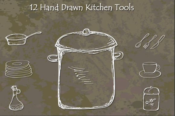 Hand Drawn Kitchen Tools