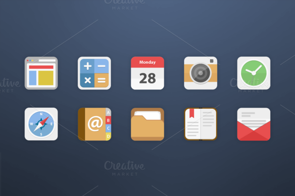 10 Android Icons Set 1