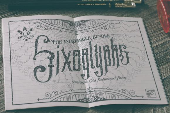 Sixoglyphs 6 Font Bundle