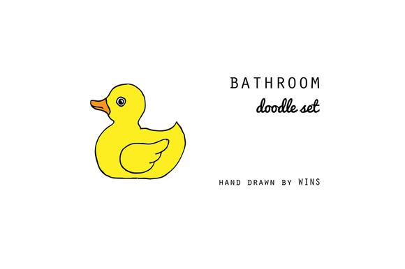 Bathroom Doodle Set