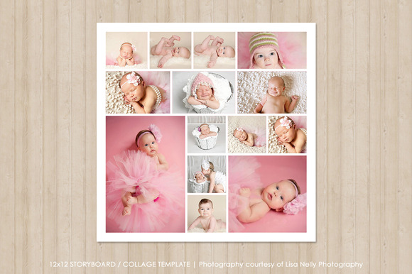 12x12 Photo Collage Template