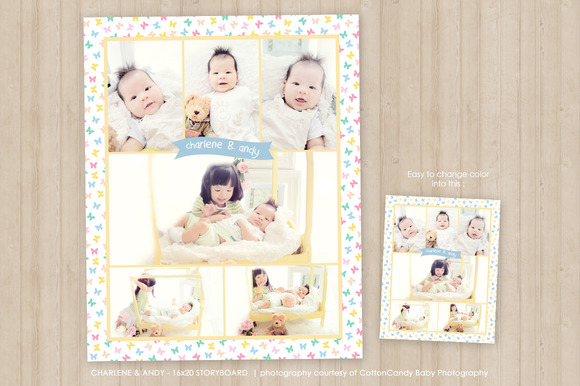 16x20 Photo Collage Template