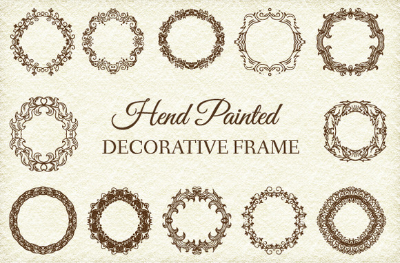 12 Retro Decorative Frame Ornament