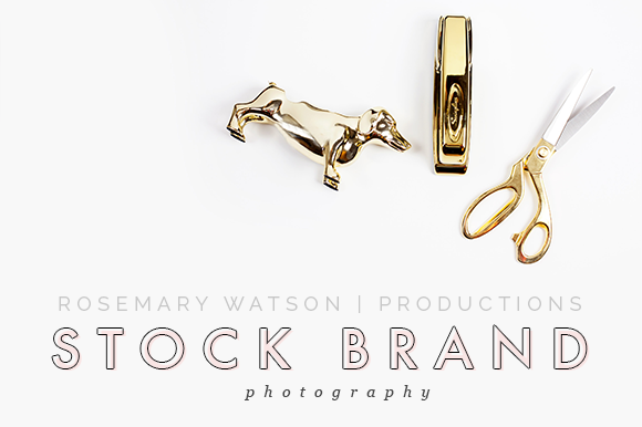 Styled Stock Photography Gold Desk