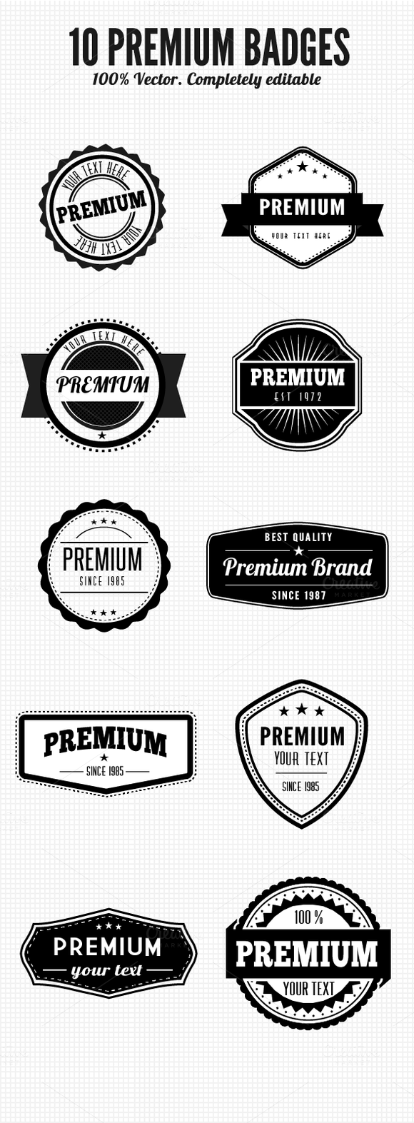 Premium Retro Badges