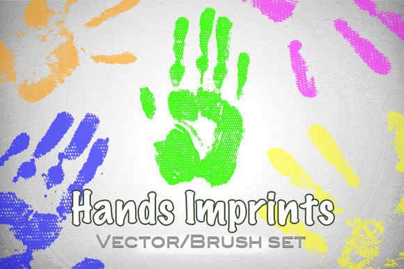 Hands Imprints Vector Brush Set