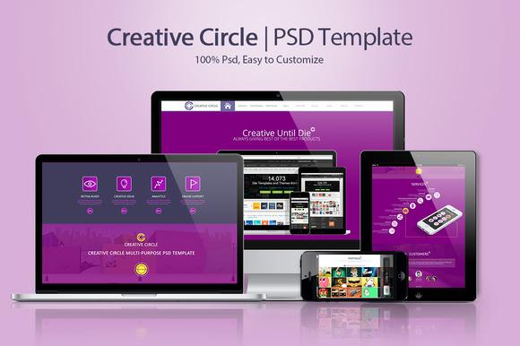 Creative Circle PSD Template