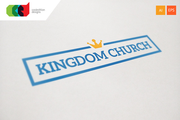 Crown Word Logo Template