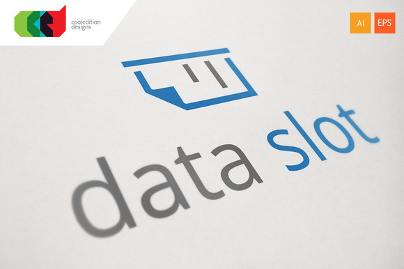 Data Slot Logo Template