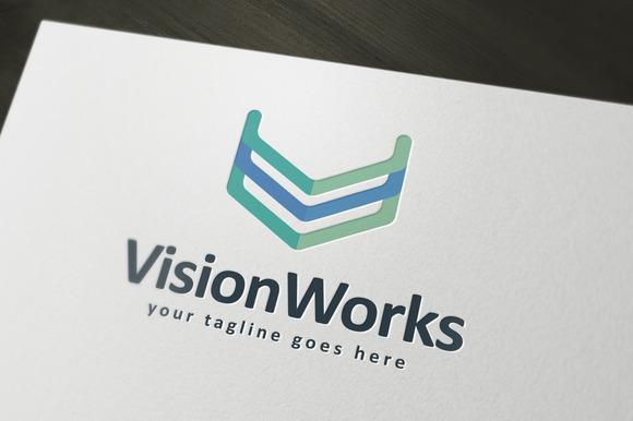 Vison Works Logo Template