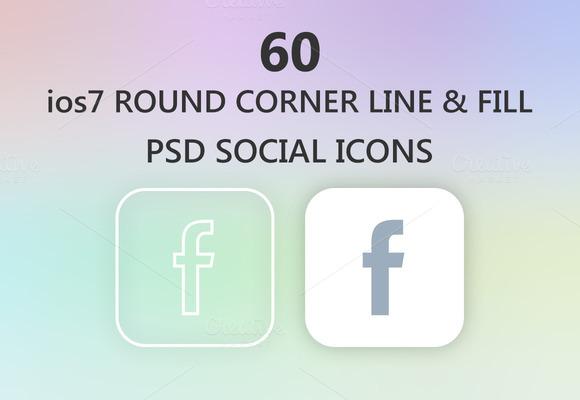 Stroke Social Icons Ios7 Style