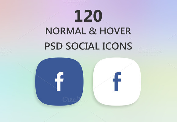 Social Icons Normal And Hover