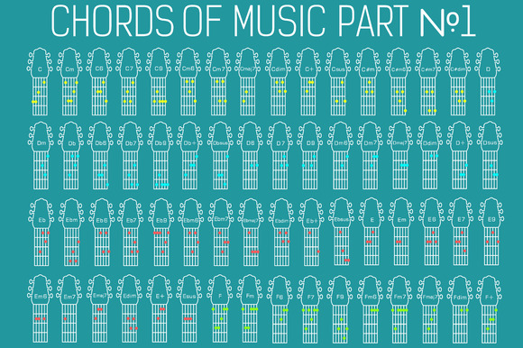 Classic Guitar Music Chords Vector