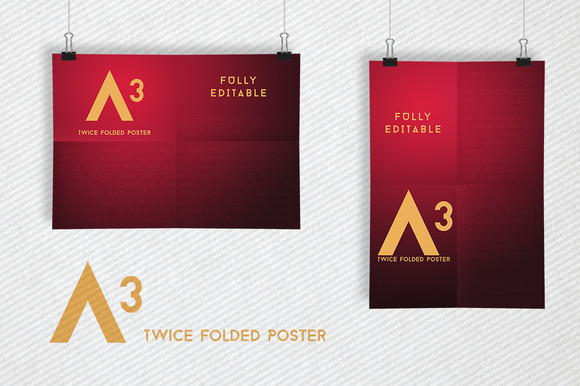 Clips Poster Mockups A3