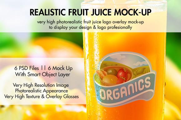 Fruit Juice Mock-Up