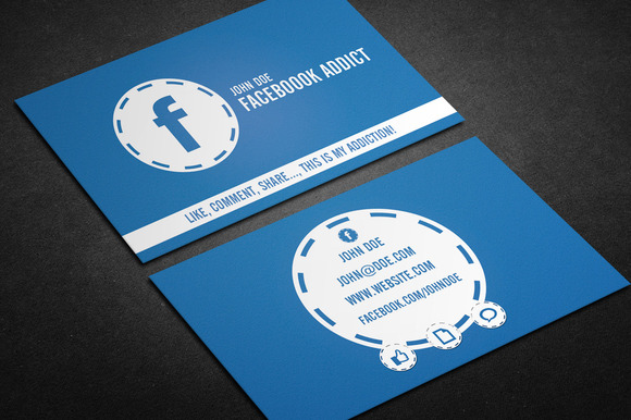 Facebook Addict Business Card