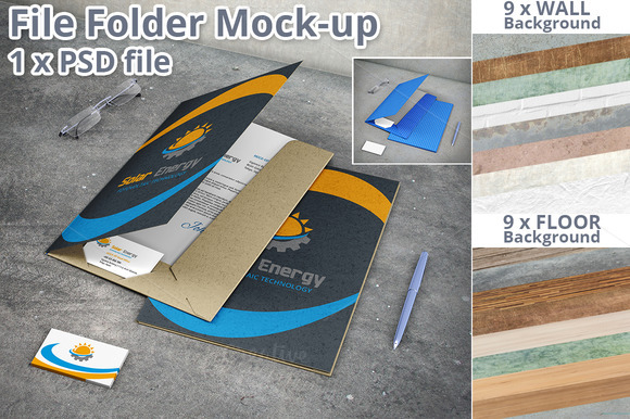 File Folder Stationery Mock-up