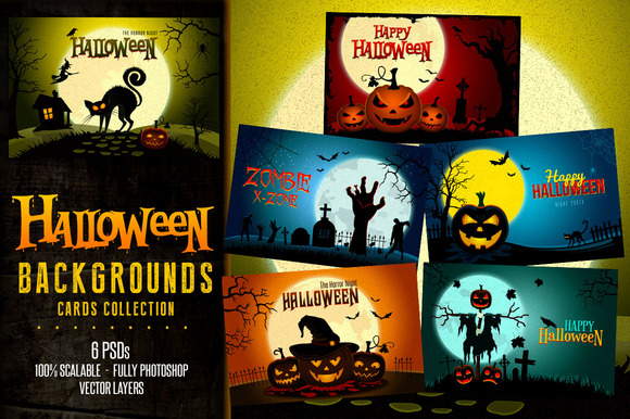 Halloween Landscapes Backgrounds