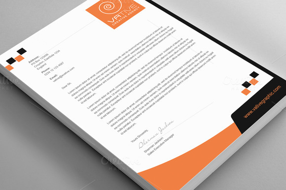 Creative Agency Corporate Letterhead
