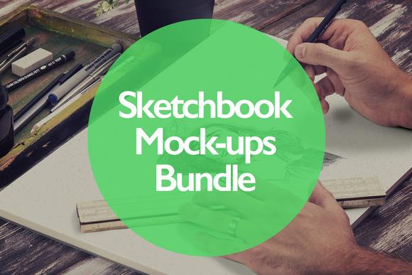 Sketchbook Mock-ups Bundle