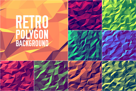 9 Vintage Style Polygon Backgrounds