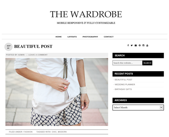 Wordpress Theme The Wardrobe