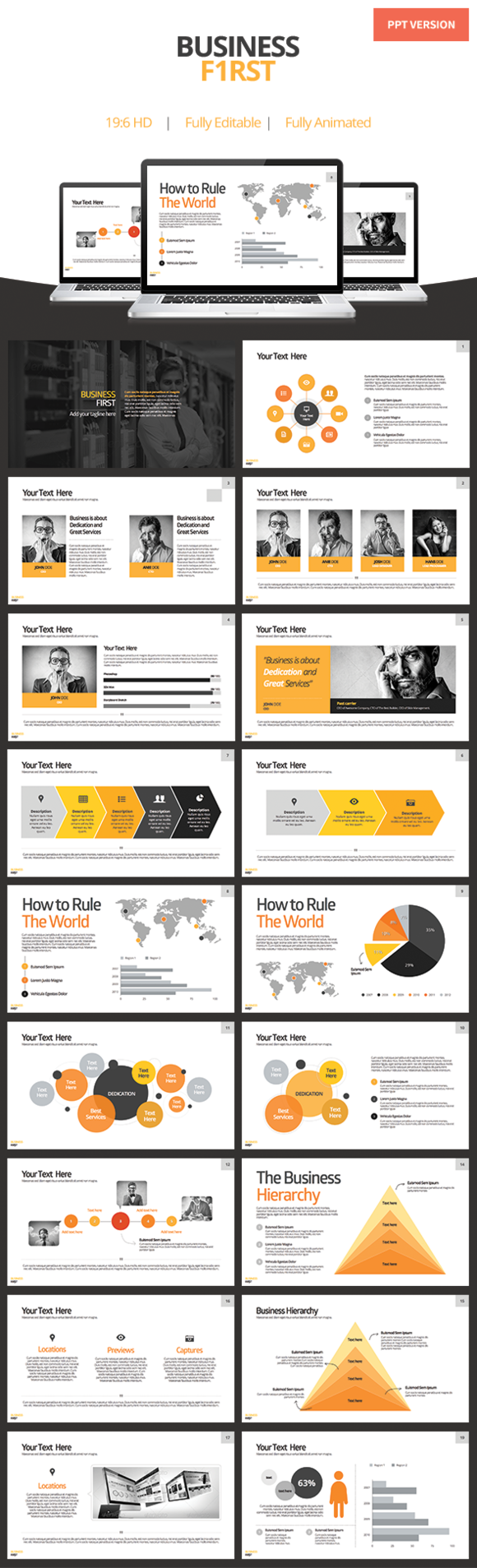 Business First Powerpoint Template
