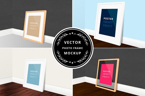 Vector Photo Frame Mockup