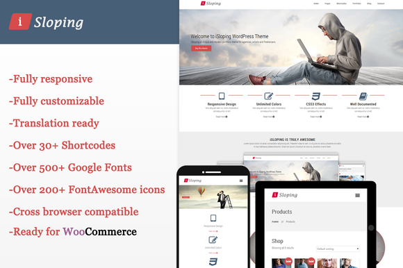 ISloping Responsive WordPress Theme