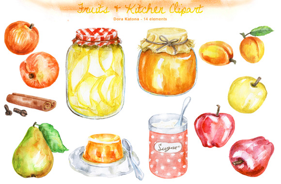 Fruits Kitchen Clipart