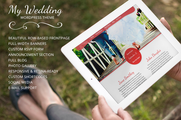 My Wedding WordPress Wedding Theme