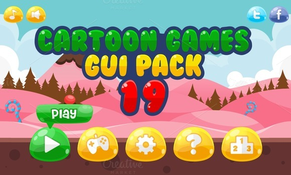 Cartoon Games GUI Pack 19